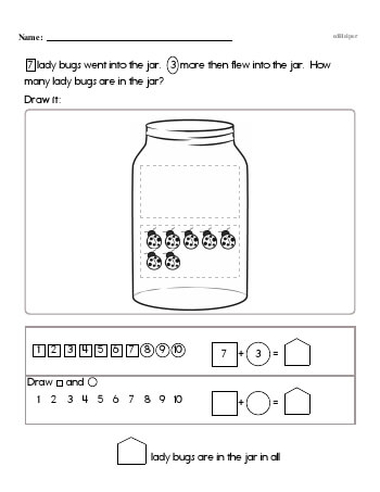 First Math Word Problems (book 3) teaching resource