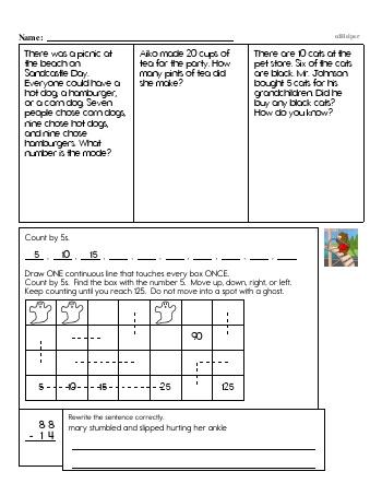 Third Grade Word Problems Resource Book (Week #6) teaching resource