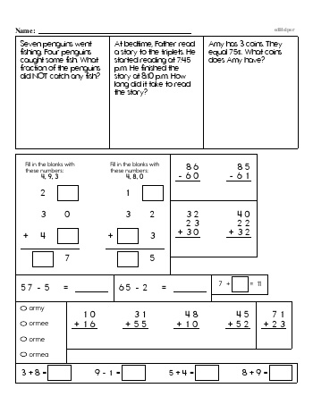 teach Third Grade Word Problems Resource Book (Week #8)