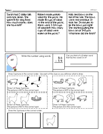teach Third Grade Word Problems Resource Book (Week #11)