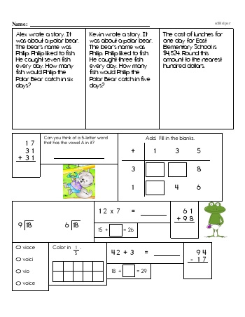teach Third Grade Word Problems Resource Book (Week #12)