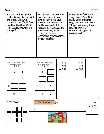 Third Grade Word Problems Resource Book (Week #13) worksheet