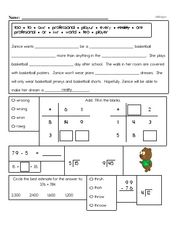 teach Third Grade Word Problems Resource Book (Week #15)