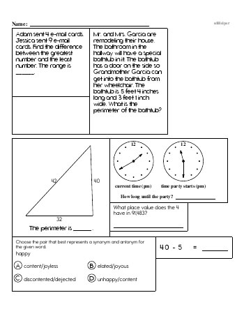teach Fourth Grade Word Problems Resource Book (Week #2)