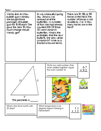 teach Fourth Grade Word Problems Resource Book (Week #3)