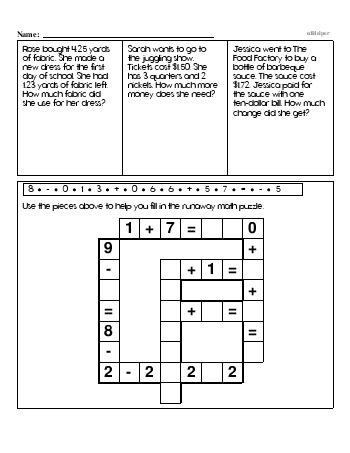 Fourth Grade Word Problems Resource Book (Week #4) teaching resource