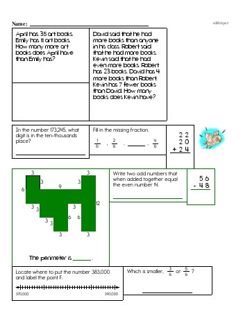 teach Fourth Grade Word Problems Resource Book (Week #5)