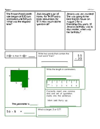 teach Fourth Grade Word Problems Resource Book (Week #7)