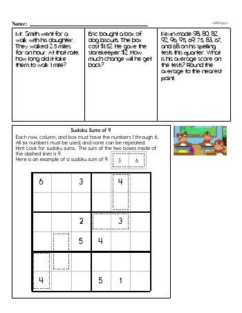 teach Fourth Grade Word Problems Resource Book (Week #9)