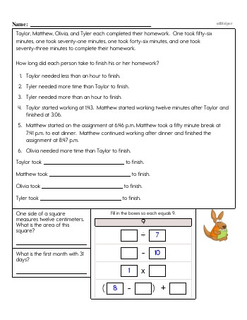 teach Fourth Grade Word Problems Resource Book (Week #10)