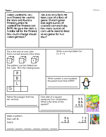 teach Fourth Grade Word Problems Resource Book (Week #14)