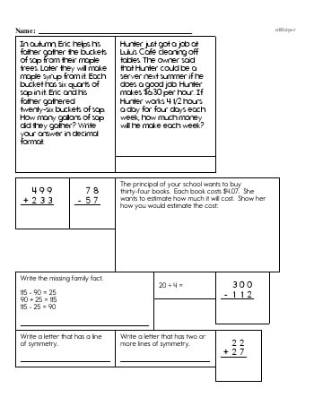 teach Fifth Grade Word Problems Resource Book (Week #2)
