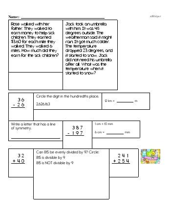 teach Fifth Grade Word Problems Resource Book (Week #3)