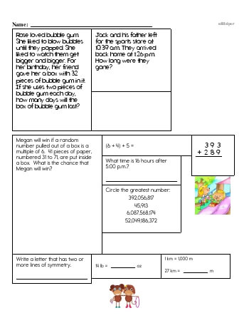 Fifth Grade Word Problems Resource Book (Week #5) teaching resource