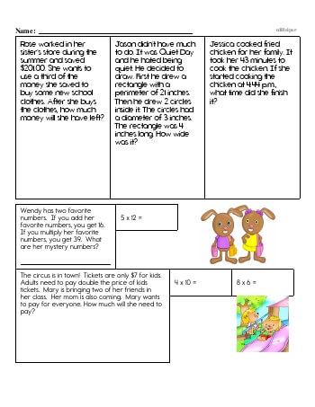 teach Fifth Grade Word Problems Resource Book (Week #5)