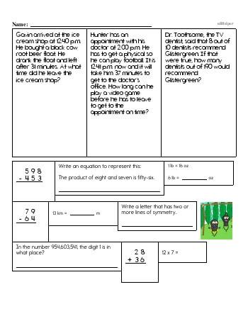 teach Fifth Grade Word Problems Resource Book (Week #6)