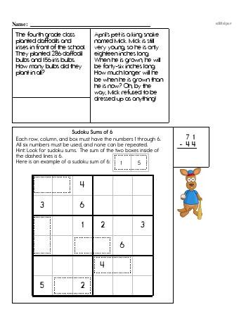 teach Fifth Grade Word Problems Resource Book (Week #8)