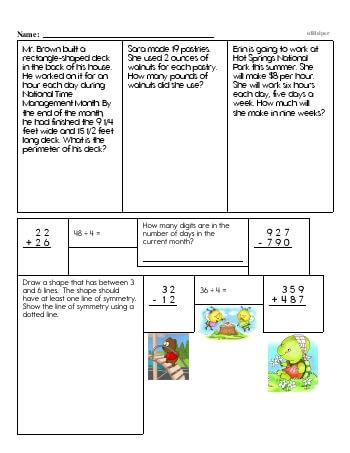 teach Fifth Grade Word Problems Resource Book (Week #9)
