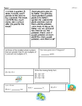 Fifth Grade Word Problems Resource Book (Week #9) teaching resource