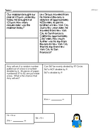 Fifth Grade Word Problems Resource Book (Week #11) teaching resource