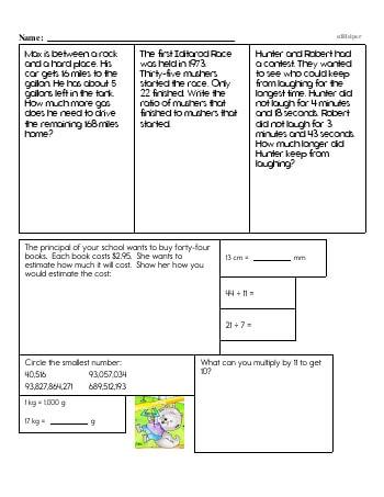 teach Fifth Grade Word Problems Resource Book (Week #12)