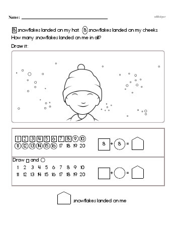 First Math Word Problems (book 7) worksheet