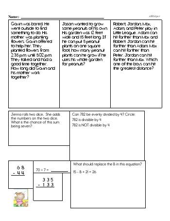 teach Sixth Grade Word Problems Resource Book (Week #14)